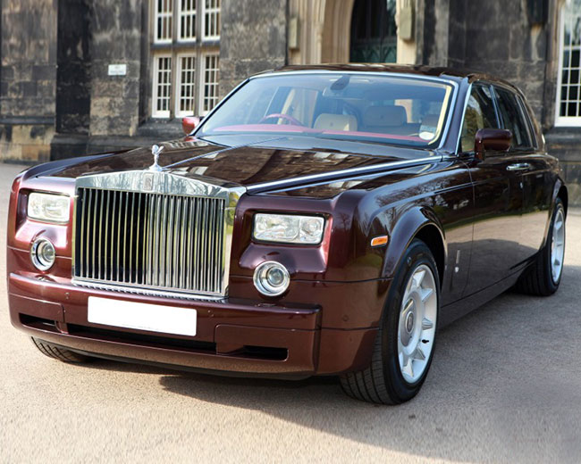 Rolls Royce Phantom - Royal Burgundy Hire in London