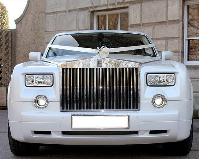 Rolls Royce Phantom - White hire  in London